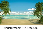 frontal view of a caribbean... | Shutterstock . vector #148750007