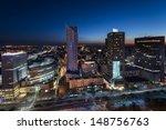 Night Panorama Of Warsaw City...