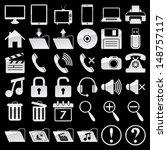 set of web and media icons | Shutterstock .eps vector #148757117