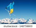 skier in high mountains | Shutterstock . vector #148758803