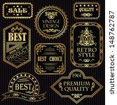 set of vintage labels in gold.... | Shutterstock . vector #148762787