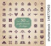 50 graphic elements for design | Shutterstock .eps vector #148772903