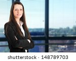 confident young businesswoman... | Shutterstock . vector #148789703
