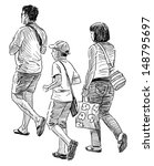 family at walk | Shutterstock . vector #148795697