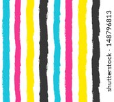 cmyk grunge stripes pattern.... | Shutterstock .eps vector #148796813