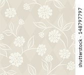 Seamless Pattern With Dahlia