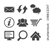 internet icons set.... | Shutterstock .eps vector #148813247