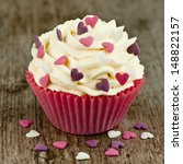 cupcake with hearts | Shutterstock . vector #148822157