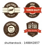 retro labels over white... | Shutterstock .eps vector #148842857