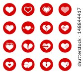 heart icon set. raster version  ... | Shutterstock . vector #148844417