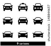 car icon set. raster version ... | Shutterstock . vector #148844657
