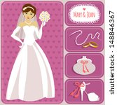 illustration of bride and... | Shutterstock .eps vector #148846367