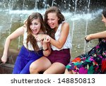 Beautiful Girls Having Fun Wit...
