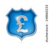 british pound security shield... | Shutterstock . vector #148860233