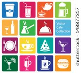 vector collection  caf     and... | Shutterstock .eps vector #148877357