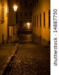 night lane in prague little... | Shutterstock . vector #14887750
