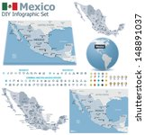 vector united mexican states... | Shutterstock .eps vector #148891037