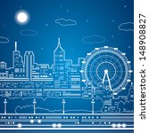 vector lines city nightlife ...   Shutterstock .eps vector #148908827