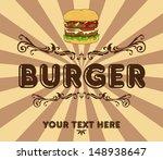 burger vintage | Shutterstock .eps vector #148938647