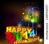 happy new year 3d message... | Shutterstock .eps vector #148943057