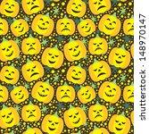 vector halloween seamless... | Shutterstock .eps vector #148970147