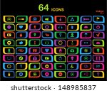 set of colored and colorful... | Shutterstock .eps vector #148985837