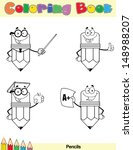 coloring book page pencil... | Shutterstock .eps vector #148988207