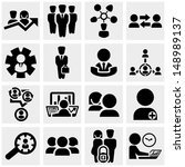 business man vector icons set... | Shutterstock .eps vector #148989137