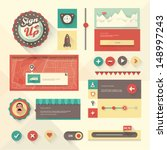 vector set of various elements...