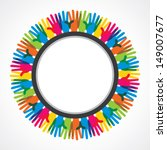 colorful hand background vector | Shutterstock .eps vector #149007677