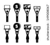 economy icons over white... | Shutterstock .eps vector #149008067