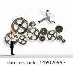 businessman and businesswoman... | Shutterstock . vector #149020997