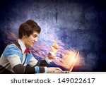 image of young businessman at... | Shutterstock . vector #149022617