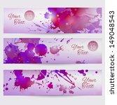set of grunge vector templates... | Shutterstock .eps vector #149048543