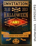 invitation to halloween party... | Shutterstock .eps vector #149051993