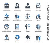 business icons set 1   blue... | Shutterstock .eps vector #149082917