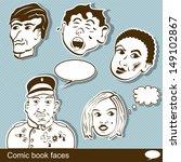 comic book heads vector... | Shutterstock .eps vector #149102867