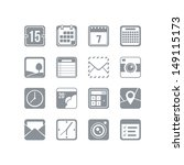 useful icon set | Shutterstock .eps vector #149115173