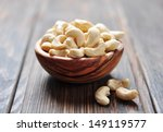 roasted cashews on natural... | Shutterstock . vector #149119577