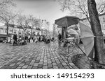 paris   dec 3  place du tertre... | Shutterstock . vector #149154293