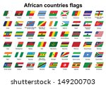 set of african countries flags... | Shutterstock .eps vector #149200703