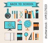 back to school. set of science... | Shutterstock .eps vector #149217023