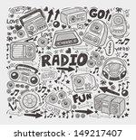 doodle radio elements | Shutterstock .eps vector #149217407