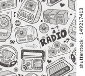 seamless doodle radio pattern | Shutterstock .eps vector #149217413