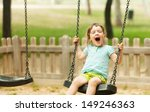 happy 3 years baby on swing  in ...   Shutterstock . vector #149246363