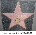 Small photo of HOLLYWOOD - JULY 11: Dizzy Gillespie's star on Hollywood Walk of Fame, as seen on July 11, 2013 in Hollywood in California. This star is located on Hollywood Blvd. and is one of 2400 celebrity stars.