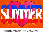 illustration of summer love... | Shutterstock . vector #149257697