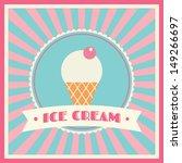 ice cream shop vector badge... | Shutterstock .eps vector #149266697