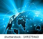 blue vivid image of globe.... | Shutterstock . vector #149275463