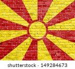 grunge macedonia flag on brick... | Shutterstock . vector #149284673